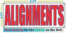 ALIGNMENTS Full Color Banner Sign NEW XXL Size Best Quality for the $$$ Car Tire