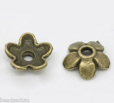 400 Bronze Tone Flower Bead Caps Findings 6.5x6.5mm GIFTS
