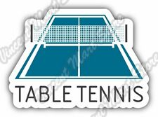 "Table Tennis Ping Pong Paddle Ball Sport Car Bumper Vinyl Sticker Decal 5""X4"""