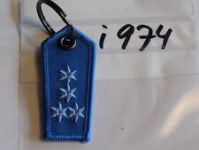 Polizei Schlüsselanhänger Schulterstück blau 4Sterne blau (i974)