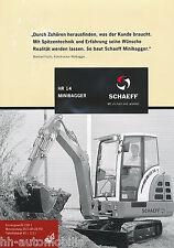 Prospekt Schaeff HR 14 Minibagger 2002 brochure mini excavator excavateur