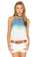 NWT $72 BB Dakota Alicia Swing Tank Top in Laguna Blue sz L