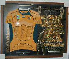 2007 Australian Wallabies Hand Signed & Framed Limited Edition World Cup Jersey