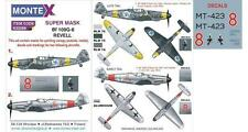Montex 1/32 masks, decals & markings for the Bf 109G-6 by Revell - k32266