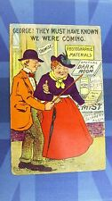 Vintage Comic Postcard 1909 CHEMIST SHOP Photography DARK ROOM Materials Theme