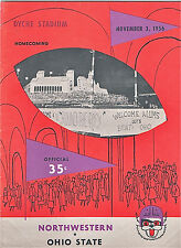 1956--OHIO STATE v. NORTHWESTERN--FOOTBALL PROGRAM--XLNT