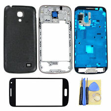 Black Back Full Housing Case for Samsung Galaxy S4 Mini i9190 + Outer Glass Lens