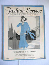 VINTAGE APRIL 1929 FASHION SERVICE, WOMANS INSTITUTE MAGAZINE