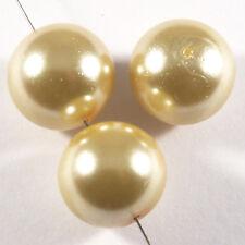 Lote de 10 Perlas nacaradas 14mm Pesca de vidrio DE Bohemía