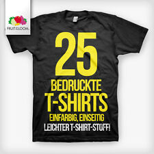25 bedruckte T-Shirts Siebdruck  T-Shirts bedrucken  T-Shirt Fruit of The Loom