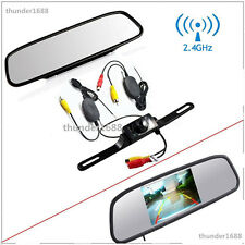 4.3inch Mirror Monitor Wireless Night Vision Car Reverse Rear View Backup Camera