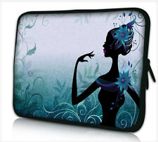"17-17,3"" LAPTOP SLEEVE CARRY CASE BAG 4 ALL LAPTOPS, FREE POST *BLUE LADY*"