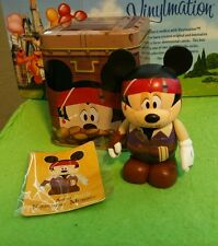 """DISNEY Vinylmation 3"""" Park Set 1 Pirate Mickey Mouse Japan with Tin & Card"""