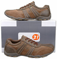 Mens New Brown Lace Up Casual Leisure Trainers Shoes Size 6 7 8 9 10 11 12