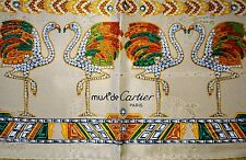NIB Beautiful must de Cartier scarf flamingo jewelry FRANCE 100% SILK new box