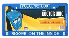 Doctor Who Bigger On The Inside Blue Vehicle License Plate Frame (New)
