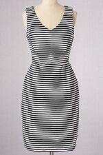 BRAND NEW $118 BODEN IVORY / NAVY STRIPED VINTAGE PONTE SHIFT DRESS - SIZE US 8R