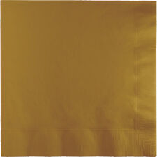 "25 Glitter Gold Wedding Birthday Party Tableware 8"" Paper 3ply Dinner Napkins"