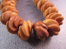 Camel Bones Carved Beads 24pcs