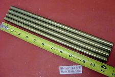 """4 Pieces 1/2"""" C360 BRASS ROUND ROD 12"""" long Solid New Lathe Bar Stock H02 .500"""""""