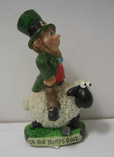 IRELAND LEPRECHAUN ON THE SHEEPS BACK GREEN HAT AND JACKET