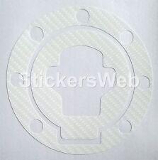 Adesivo Tappo Serbatoio SUZUKI SV650 SV650S 1999-2002 (Carbonio Bianco) Cod.0519