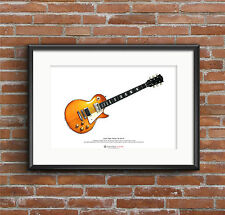 Jimmy Page's 1959 Gibson Les Paul #1 ART POSTER A3 size