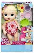 Baby Alive Super Snacks Snackin' Lily Blonde Doll By Hasbro B5013 New