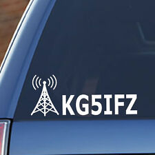 Ham Radio - Amateur Radio, Callsign, Call Sign, Antenna Vinyl Decal, Car, Truck