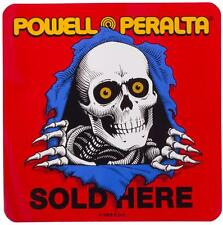 POWELL PERALTA  Ripper  Sold Here Sticker. skateboard dealer double sided window