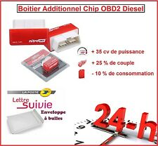 BOITIER ADDITIONNEL CHIP BOX PUCE OBD2 DIESEL PEUGEOT 207 1.6 1L6 HDI 92 CV