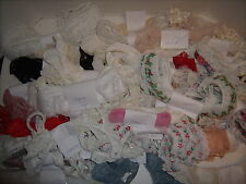 HUGE  Lot of VTG Lace & Eyelet Trim Sewing Crafts ~ Various Widths and Colors