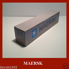 FREE Maersk Sealand Shipping Container Card Kit 40ft Pre-Weathered HO Gauge x 6