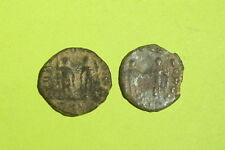 COLLECTION Ancient ROMAN COINS of HONORIUS emperors globe spear shield lot old