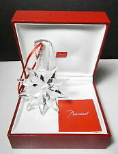 BACCARAT 2013 Annual NOEL Christmas Ornament, Clear Star, New in SEALED Box