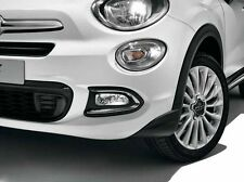 Fiat 500X Pair of Chrome Front Fog Light Surrounds / Trims New Genuine 50927460