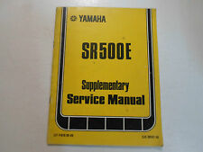 1978 Yamaha SR500E Supplementary Service Manual FACTORY OEM BOOK 78 DEALERSHIP