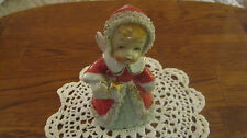 JAPAN VINTAGE CHRISTMAS ANGEL BELL - WITH GIFT AND A GOLD STAR