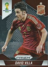 (HCW) 2014 Panini Prizm World Cup Prizms DAVID VILLA Soccer Spain Football