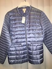 Chicos FEMININE SHINE PUFFER JACKET Blue  size 3 16 L XL