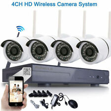4PK HD 720P WIFI Wireless IP Camera System 4CH NVR Outdoor Security Home Video@L