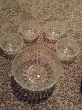 5 Piece Crystal Salad Bowl Set - Made in Italy