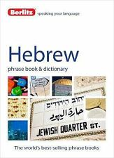 Hebrew Phrase Book and Dictionary by Berlitz Publishing Staff (2014, Paperback)