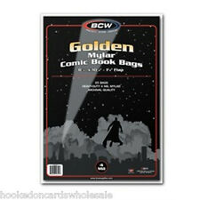 1 Pack of 25 BCW Golden Age Comic Book Mylar Bags Sleeves 4 mil