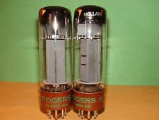 "Matched Pair Rogers EL34 6CA7 ""DD"" Getters Vacuum Tubes V Strong 11,800 12,000"
