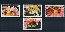 Antigua & Barbuda 1995 Bees 4v Set Insects Mining Solitary Honey Leaf-cutter Bee