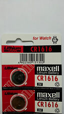 2 NEW CR1616 MAXELL 3V BATTERY - Free Shipping Worldwide - Expiration Year: 2026