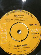 "THE SWEET blockbuster/need a lot of lovin RARE SINGLE 7"" 45  INDIA VG"
