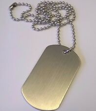 Personalised-Metal-Military-Army-Dog-Tags-Tag-&-Necklace-Engraved Gift