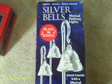 Mr Christmas 3 Pack of Light & Sounds Silver Bells Musical Pathway Markers NIB